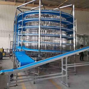 China professional spiral conveyor maker POM belt for foods cooling customized